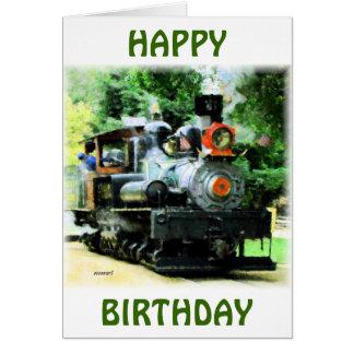 american steam train greeting card