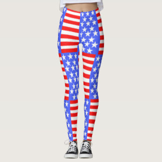 American style-ART fabric Leggings