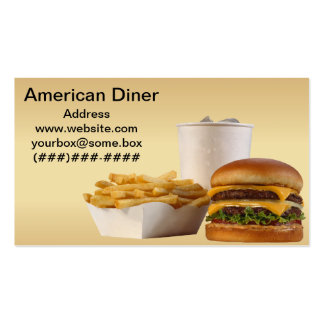 American Style Diner Double-Sided Standard Business Cards (Pack Of 100)