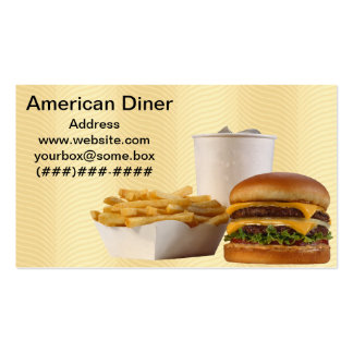 American Style Diner Pack Of Standard Business Cards