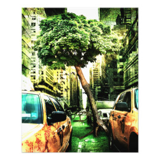 American Style with Taxi 11.5 Cm X 14 Cm Flyer
