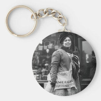 American Suffragette, 1910 Basic Round Button Key Ring