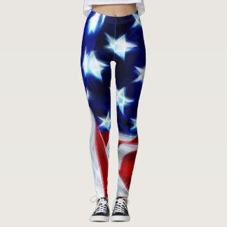 American Swag Flag Custom Yoga Leggings