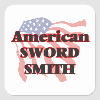American Sword Smith Square Sticker