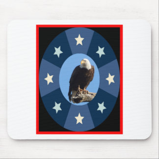 American symbol standing for freedom and strength mouse pad
