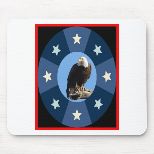 American symbol standing for freedom and strength mousepads