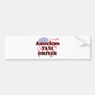 American Taxi Driver Bumper Sticker