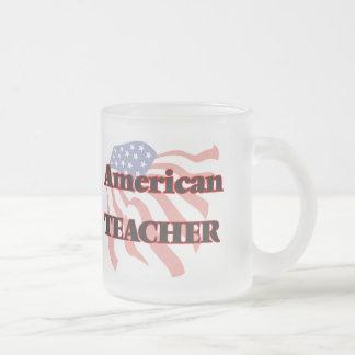 American Teacher Frosted Glass Mug