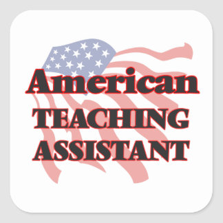 American Teaching Assistant Square Sticker