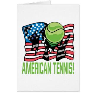 American Tennis Greeting Card