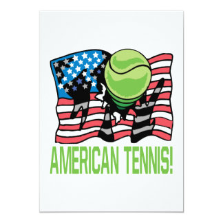 American Tennis 13 Cm X 18 Cm Invitation Card