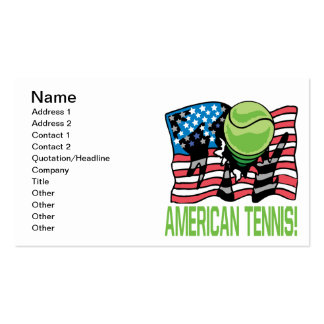 American Tennis Pack Of Standard Business Cards