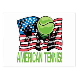 American Tennis Postcard