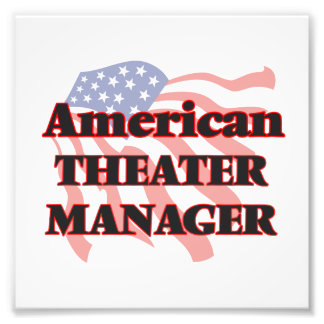 American Theater Manager Photographic Print