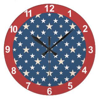 American themed stars large clock