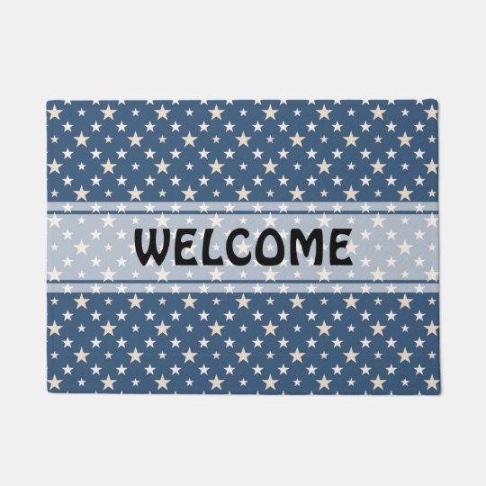 American themed stars pattern doormat