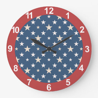 American themed stars wall clock