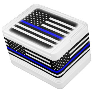 American Thin Blue Line Graphic Igloo Cool Box
