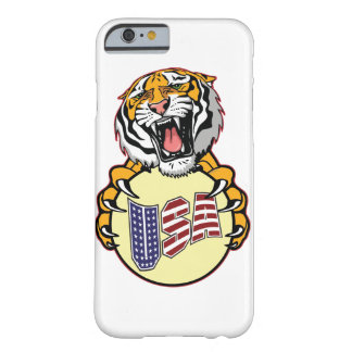 American Tiger Monogram  6/6s Plus iPhone 6P Barely There iPhone 6 Case