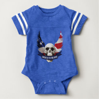 American to the Bone Skull Baby Bodysuit
