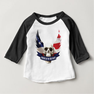 American to the Bone Skull Baby T-Shirt