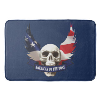 American to the Bone Skull Bath Mat