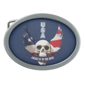 American to the Bone Skull Belt Buckles