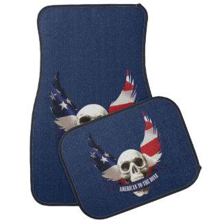 American to the Bone Skull Car Mat