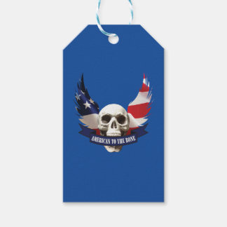 American to the Bone Skull Gift Tags