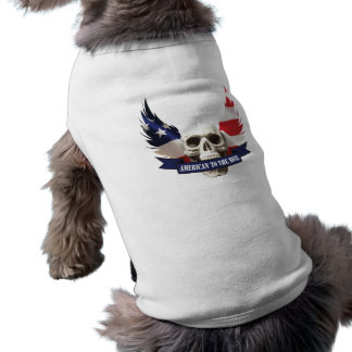 American to the Bone Skull Sleeveless Dog Shirt
