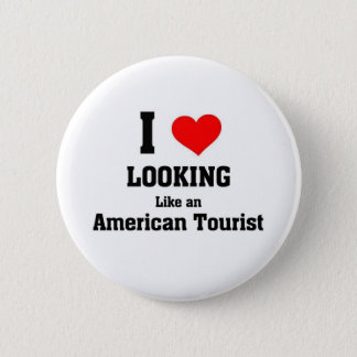 American Tourist 6 Cm Round Badge