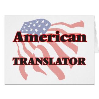 American Translator Big Greeting Card