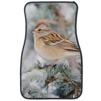 American Tree Sparrow in winter Car Mat