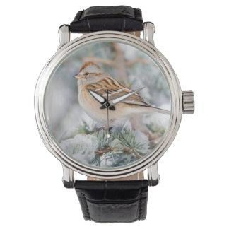 American Tree Sparrow in winter Wristwatch