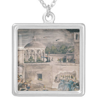 American troops under General Doniphan Silver Plated Necklace