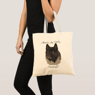 American type akita dog portrait realist art tote bag