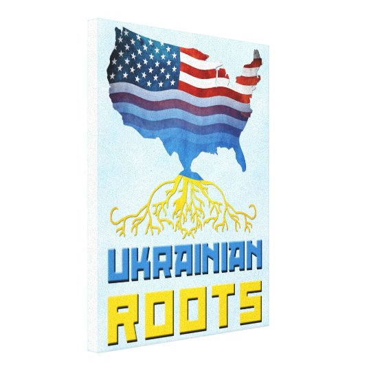 American Ukrainian Roots Canvas Print