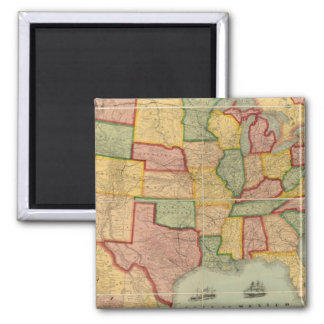 American Union Railroad Map of The United States Magnet