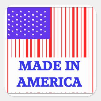 American UPC Square Sticker