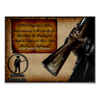 American Uprising 2nd Amendment Poster