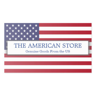 American US Store - Flag Business Card