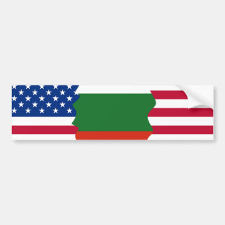 American/USA and Bulgarian Flag Bumper Sticker