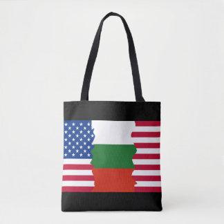 American/USA and Bulgarian Flag Tote Bag