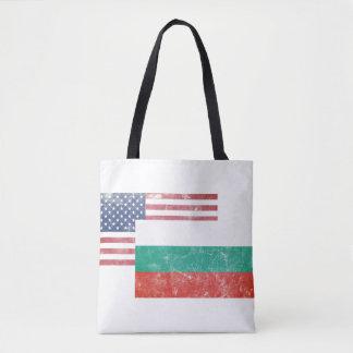 American/USA and Bulgarian Vintage Flag Tote Bag