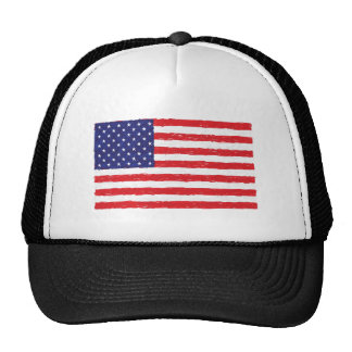 American USA Flag *Hand Sketch* Us Flag Cap