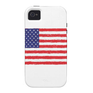American USA Flag *Hand Sketch* Us Flag Case-Mate iPhone 4 Case