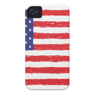 American USA Flag *Hand Sketch* Us Flag Case-Mate iPhone 4 Cases
