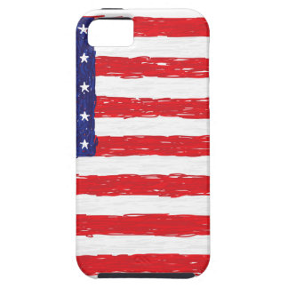 American USA Flag *Hand Sketch* Us Flag iPhone 5 Cover