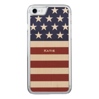 American USA Flag Patriotic July 4th Carved iPhone 8/7 Case