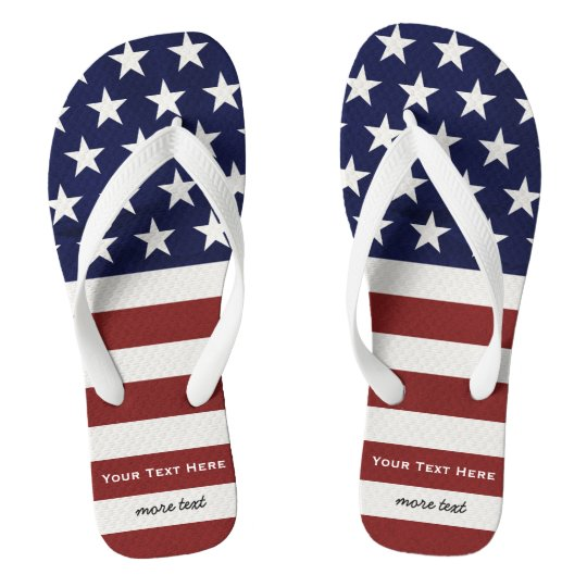 American USA Flag Patriotic July 4th Custom Flip